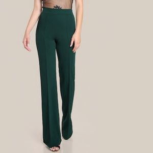NWOT Hunter green high rise piped dress pants